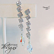 SOLD Swarovski crystal and CZ earrings