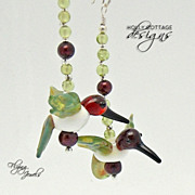 Artisan crafted hummingbird earrings