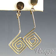 Vintage maze dangle earrings