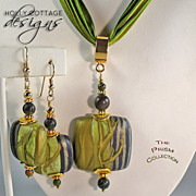Artisan crafted necklace & earrings: Prism Set No. 4