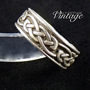 Vintage sterling silver celtic band ring