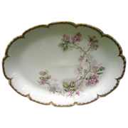 Antique Haviland Limoges Platter Hand Painted Accents