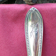 Antique Sterling Silver Lettuce Spoon Trumbull Pattern International Silver