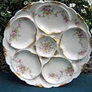 Antique Haviland Limoges Oyster Plate Schleiger 231