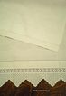 Vintage Linen Damask Towel Wide Crochet Lace Trim