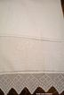 Vintage Towel Crochet Lace Floral Embroidery Monogram E
