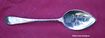 English Silver Jelly Server Fruit Pattern