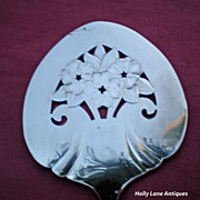 Floral Reticulated Silver Server