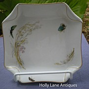 Antique Haviland Limoges Plate Meadow Visitors Napkin Fold Blank
