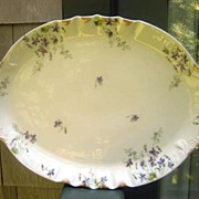 Antique Haviland Limoges Platter Schleiger 1013 Violets