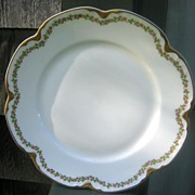 Antique Haviland Limoges Dinner Plate Schleiger 874 Gold