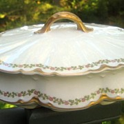 Antique Haviland Limoges Covered Tureen Schleiger 874
