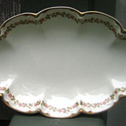 Antique Haviland Limoges Relish Dish Schleiger 874