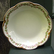 Antique Haviland Limoges Berry / Sauce Bowl Schleiger 874 Green & Gold