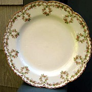 Antique Haviland Limoges Plate Looping Floral Gold Trimmed Blank 121