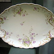 Antique Haviland Limoges Platter Schleiger 147 Lavender Blossoms