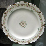 Antique Haviland Limoges Dinner Plate Schleiger 877