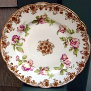 Antique Haviland Limoges Plate American Beauty Roses