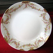 Antique Haviland Limoges Shallow Soup Bowl Schleiger 145 Rose Garlands