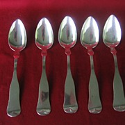 Antique Coin Silver Spoons Set Of 5