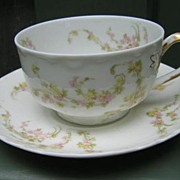 Antique Haviland Limoges Cup & Saucer Schleiger 233
