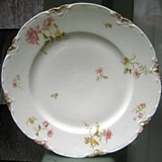 Haviland Limoges Plate Pink Poppies