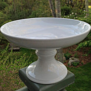 Early English White Ironstone Pedestal Compote Anthony Shaw