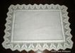 Antique Tray Cloth Irish Linen And Hand Crochet Edge