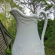Early English White Ironstone Ewer Lily Shape