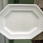 Early English White Ironstone Platter Baltic Shape
