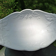 Early English White Ironstone Relish Fuchsia Shape