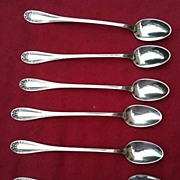 Set 6 Vintage Silver Plated Iced Tea Spoons Floral