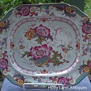 Antique Cauldon Platter Beautiful Floral
