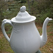 Early English White Ironstone Tea Pot Sevres Shape