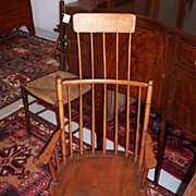 REDUCED American Windsor Comb-Back Rocker with Shawl Rack