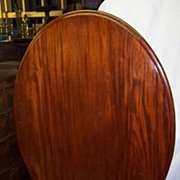 REDUCED Victorian mahogany oval tilt-top breakfast table