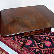 REDUCED Period Drop-Leaf Mahogany Breakfast Table Ca. 1830