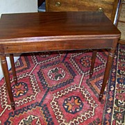 REDUCED Federal Sheraton Mahogany Game Table Ca. 1830