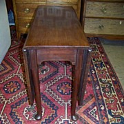 REDUCED Queen Anne George II Mahogany Drop Leaf table Ca. 1750