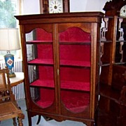 REDUCED Mahogany Sheraton China Display Cabinet Ca. 1890