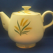 Homer Laughlin Royal Harvest Wheat 5 Cup Teapot