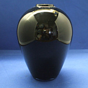 Laslo for Mikasa Black Glass Vase 6 1/2&quot;