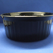 Corning French Black 1 L Round Casserole No Lid