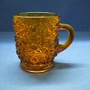 Amber Daisy & Button Small Mug Cup Glass