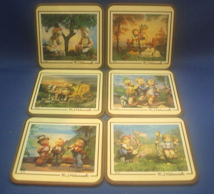 Hummel Picture Cork Coasters Set of 6