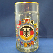 German Glass Stein Der Bundesrepublik Deutschland Germany Coats of Arms
