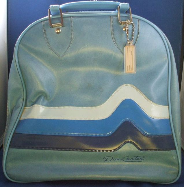 Don Carter Sky Blue Bowling Bag Stripes
