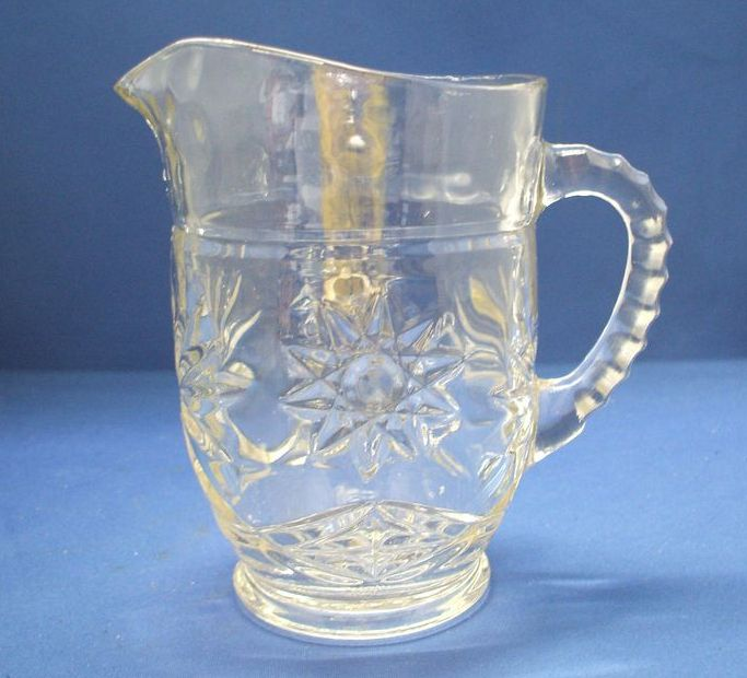 Early American Prescut Juice Pitcher 18 Oz