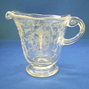 Fostoria Navarre Creamer Elegant Depression Glass