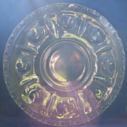King's Crown Variant Clear Torte Plate 14&quot;
